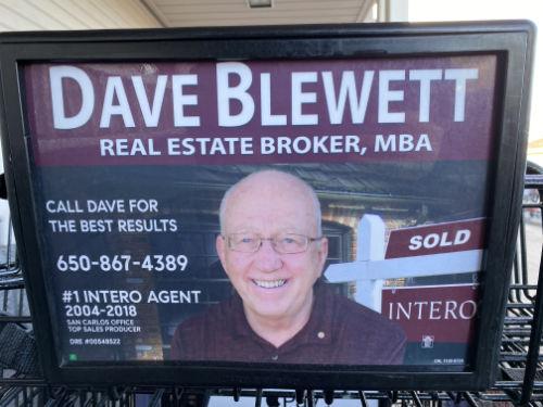 Advertisement for a realtor named 'Dave Blewett'