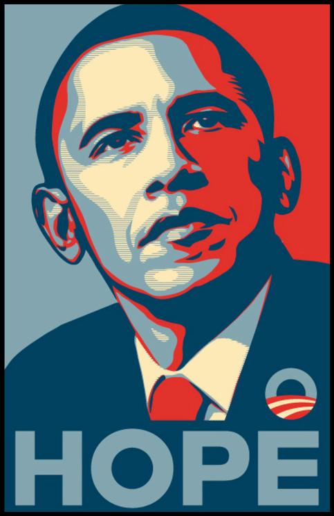 Barack Obama 'HOPE' poster
