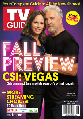 TV Guide's 'Fall Preview' issue, with two of the stars of 'CSI: Crime Scene Investigation' on it